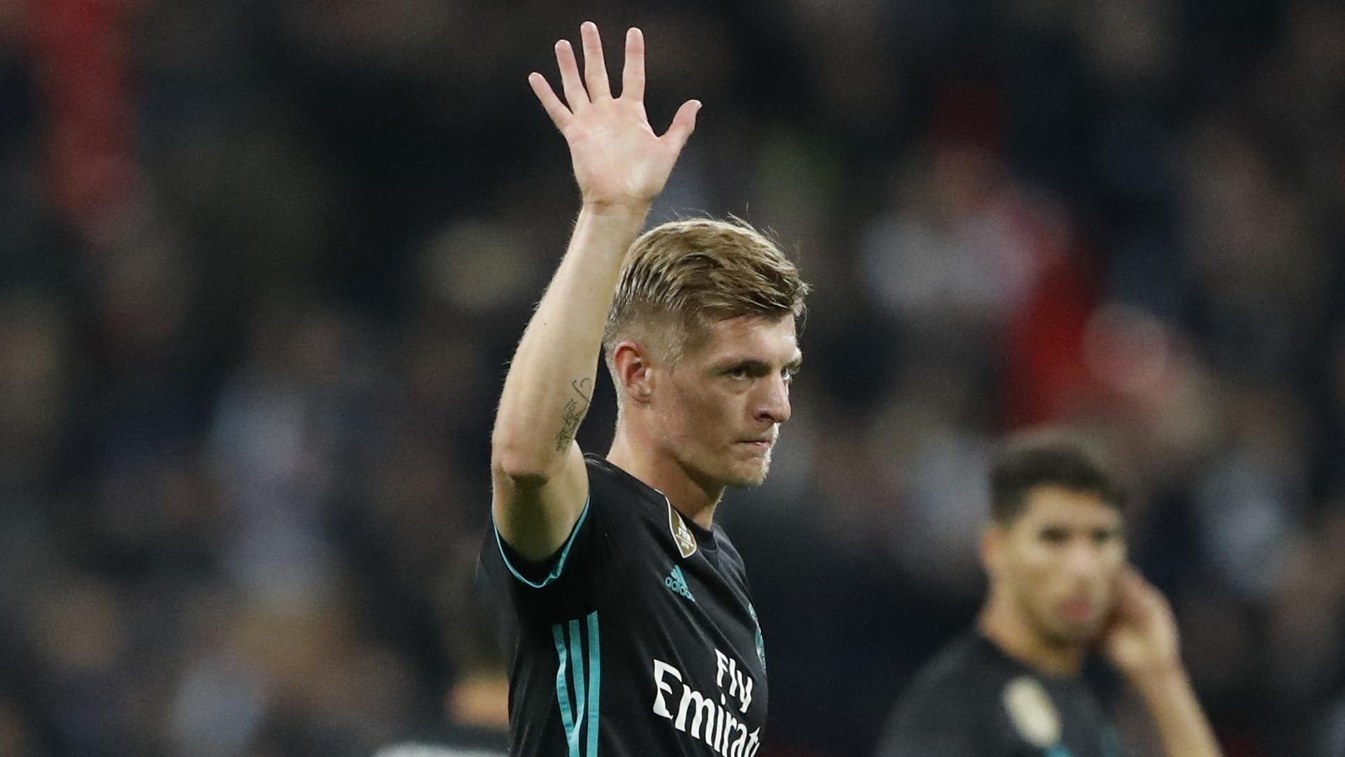 Gelandang Real Madrid, Toni Kroos. (AP/Frank Augstein)