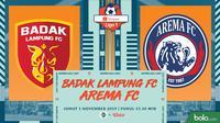 Shopee Liga 1 - Badak Lampung FC Vs Arema FC (Bola.com/Adreanus Titus)