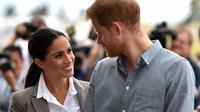 Meghan Markle - Pangeran Harry (PETER PARKS / POOL / AFP)