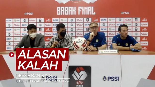 Berita video Pelatih Persib Bandung, Robert Rene Alberts, mengungkapkan alasan timnya kalah dari Persija Jakarta pada leg 1 Final Piala Menpora 2021 dalam konferensi pers, Kamis (22/4/2021) malam hari WIB.