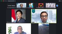 Diskusi daring bertema Tantangan Politik 76 Tahun Indonesia Merdeka yang digelar Forum Diskusi Denpasar 12, Rabu (25/8/2021).