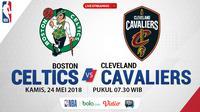 Jadwal NBA, Boston Celtics Vs Cleveland Cavaliers. (Bola.com/Dody Iryawan)