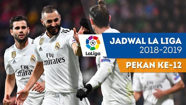 Berita video jadwal La Liga 2018-2019 pekan ke-12. Real Madrid bertandang ke markas Celta Vigo, Barcelona ditantang Real Betis.