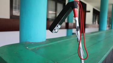 Balai Besar Kartini Temanggung mengembangkan tongkat penuntun adaptif bagi para penyandang disabilitas sensorik netra (Tangkapan Layar Laman Kemensos)