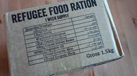 Paket yang juga sama diterima oleh para pengungsi untuk pasokan makanan mereka selama sepekan. (Istimewa)