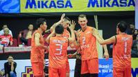 Jakarta BNI Taplus sukses menorehkan kemenangan pertama di Proliga 2018 (istimewa)
