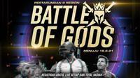 """Dengan tujuan memperkuat ekosistem esports di Indonesia maupun Internasional, Dewa United Esports mengadakan turnamen esports bertajuk """"Battle of Gods"""". (Istimewa)"""