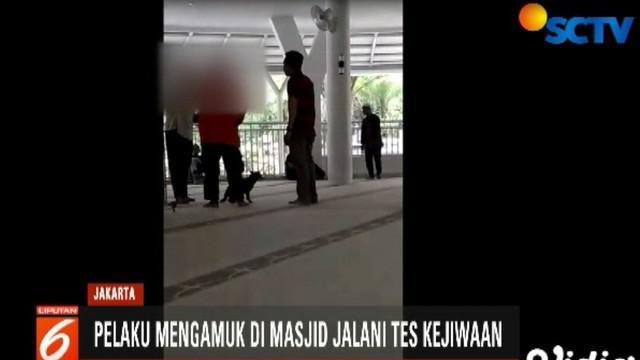 Dia dibawa oleh petugas Polres Bogor untuk memastikan kondisi kejiwaannya.