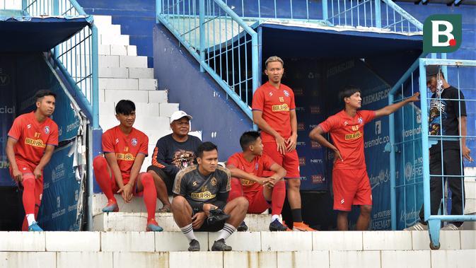 arema fc gelar latihan perdana, penjagaan di stadion kanjuruhan diperketat