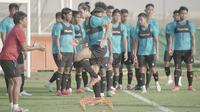 Bek Timnas Indonesia, Ryuji Utomo, berlatih di Dubai, Uni Emirat Arab (UEA). (PSSI).