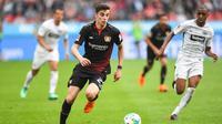 Gelandang Bayer Leverkusen asal Jerman, Kai Havertz. (AFP/Patrik Stollarz)
