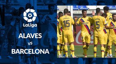 Berita motion grafis statistik Deportivo Alaves vs Barcelona pada laga terakhir La Liga 2019-2020.