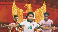 Timnas Indonesia - Taufik Hidayat, Bagus Kahfi, Ronaldo Kwateh (Bola.com/Adreanus Titus)