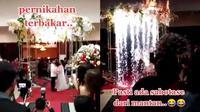Viral Video Dekorasi Pernikahan Mewah Mendadak Kebakaran, Bikin Tamu Panik (Sumber: TikTok/abe_ryan82)