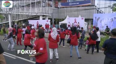 Jelang hari AIDS sedunia, DKT Indonesia kampanyekan #ubahhiduplo di CFD Sudirman, Jakarta.