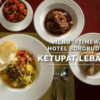 Menu Spesial Hotel Borobudur: Ketupat Lebaran. (Fotografer: Daniel Kampua, Digital Imaging: Nurman Abdul Hakim/Bintang.com)