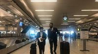 Menlu Retno Marsudi tiba di New York pada Rabu (19/5) untuk menghadiri Majelis Umum PBB yang akan membahas isu Palestina. (Dok: Twitter/@Menlu_RI)