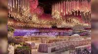 Dekorasi pesta pernikahan yang dikabarkan menghabiskan dana Rp 13,3 triliun (Foto: SAFIT event agency).