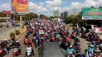 Penampakan aksi May Day FSPMI Cirebon Raya pada tahun lalu. Foto (Istimewa)