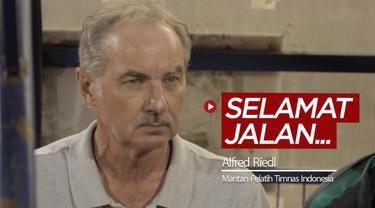 Berita video berita duka Alfred Riedl, pelatih yang nyaris membawa Timnas Indonesia juara Piala AFF dua kali, meninggal dunia pada usia 70 tahun, Selasas (8/9/2020).