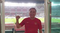 Sosok yang diisukan bakal maju menjadi ketua umum PSSI, Mochamad Iriawan, hadir langsung menyaksikan Timnas Indonesia melakoni uji coba internasional kontra Vanuatu di Stadion Utama Gelora Bung Karno, Senayan, Jakarta, Sabtu (15/6/2019). (Istimewa)