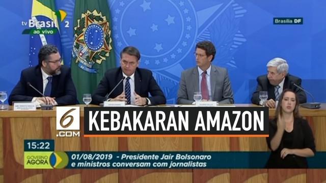 Presiden Brasil Jair Bolsonaro mengancam pegawainya yang dianggap menyebar berita tidak benar terkait kebakaran hutan Amazon. Bolsonaro merasa laporan satelit Brasil telah dimanipulasi.
