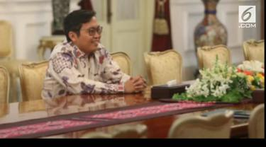 """CEO Bukalapak Ahmad Zaky menemui Presiden Joko Widodo. Ia datang meminta maaf dan mengklarifikasi cuitannya soal """"presiden baru"""""""