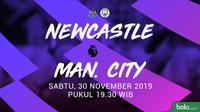 Premier League - Newcastle United Vs Manchester City (Bola.com/Adreanus Titus)