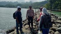 Pemancing hilang tenggelam diempas ombak laut selatan di Pantai Logending, Kebumen. (Foto: Liputan6.com/Humas Polres Kebumen)