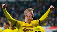 Penyerang Borussia Dortmund, Erling Haaland. (AFP/Patrik Stollarz)