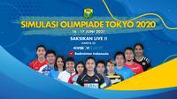 PBSI bakal menggelar laga simulasi Olimpiade Tokyo 2020 di Pelatnas Cipayung, Jakarta Timur, 16-17 Juni 2021. (foto: PBSI)