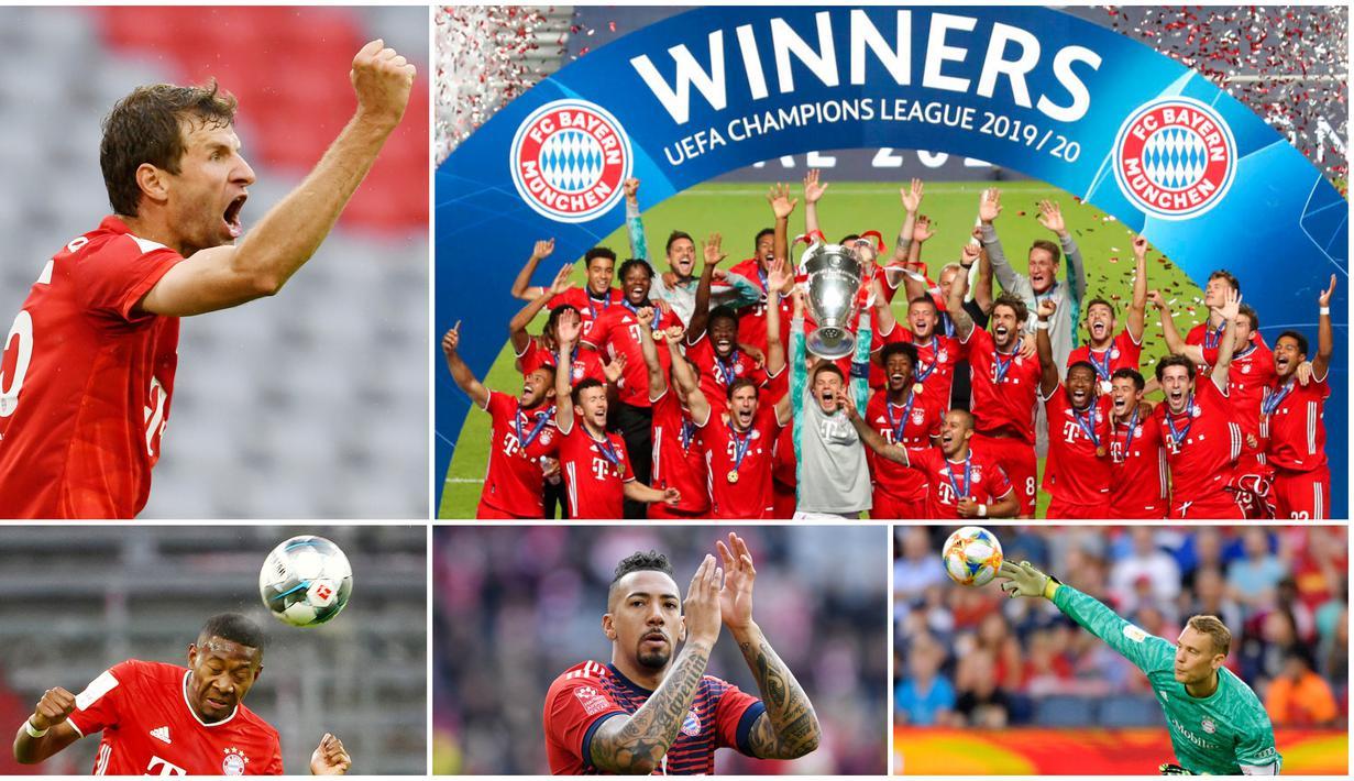 Bayern Muenchen merupakan salah satu klub yang berhasil meraih treble winner sebanyak dua kali selain Barcelona. Berikut 5 pemain yang ikut serta merasakan manisnya meraih treble winner sebanyak dua kali bersama Die Roten.