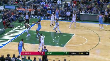 Berita video game recap NBA 2017-2018 antara LA Clippers melawan Milwaukee Bucks dengan skor 127-120.