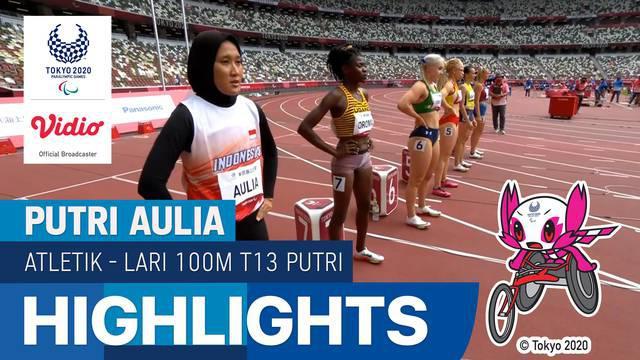 Berita Video, Putri Aulia Gagal Melaju ke Final Lari 100 Meter Putri di Paralimpiade Tokyo 2020