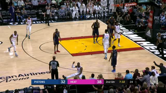 Berita video game recap NBA 2017-2018 antara Miami Heat melawan Detroit Pistons dengan skor 105-96.