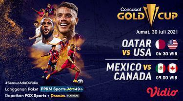 Jadwal dan Live Streaming Semi Final Piala Emas CONCACAF 2021 di Vidio, Jumat 30 Juli 2021