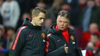 Adnan Januzaj bersama Louis van Gaal ketika masih bersama-sama di Manchester United. (Sky Sports)