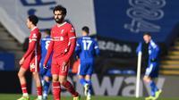 Manajer Liverpool, Jurge Klopp, menyebut timnya tak pantas menelan kekalahan 1-3 dari Leicester City karena tampil baik sepanjang laga. (AFP/Michael Reagan)