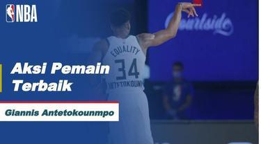 Berita video aksi-aksi mengesankan dari bintang Milwaukee Bucks, Giannis Antetokounmpo, yang dinobatkan sebagai pemain terbaik NBA hari ini, Selasa (25/8/202) WIB.