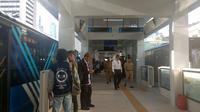 Pemprov DKI Jakarta kembali membuka halte Transjakarta Bundaran Hotel Indonesia (HI), Menteng, Jakarta Pusat.