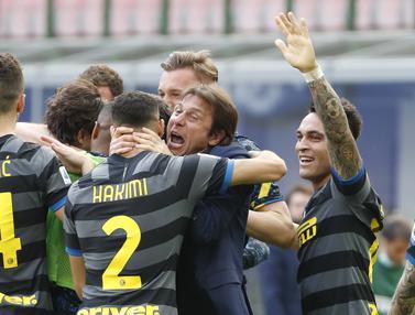 FOTO: Menang 1-0 atas Verona, Inter Kian Dekat Menuju Scudetto - Antonio Conte; Tim Inter Milan