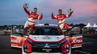 Xpander Rally Team (XRT) jadi juara umum di Meikarta Sprint Rally 2020. ©2020 Merdeka.com