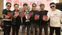 Band Repvblik meluncurkan album terbarunya di KFC Kemang, Jakarta, Rabu (26/9/2018).