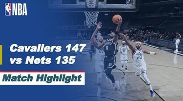 Berita video highlights laga seru NBA 2020/2021 hari ini, antara Cleveland Cavaliers melawan Brooklyn Nets yang berakhir dengan skor 147-135, Kamis (21/1/2021) pagi hari WIB.