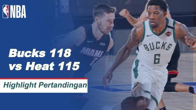 Berita Video Highlights NBA, Milwaukee Bucks Vs Miami Heat 118-115