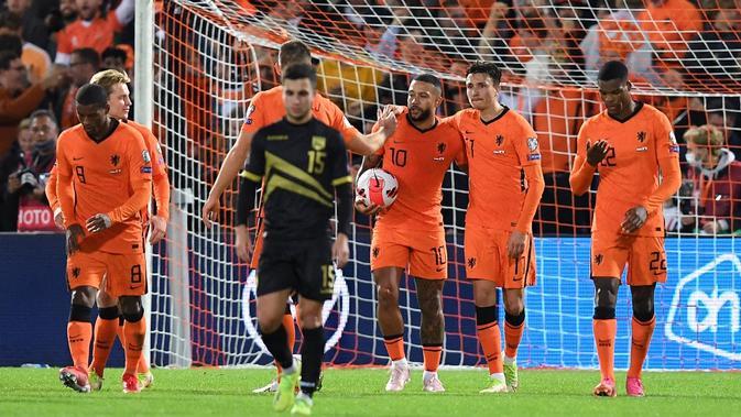 Hasil Pertandingan Kualifikasi Piala Dunia 2022: Timnas Belanda Menang Setengah Lusin Gol atas Gibraltar