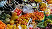 Ilustrasi buah-buahan di pasar (pixabay)