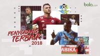 Trivia penyerang terbaik Liga 1 2018. (Bola.com/Dody Iryawan)