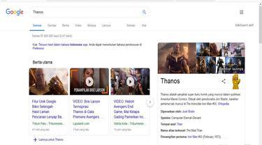 Gauntlet Thanos di Google