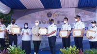 Kementerian Perhubungan menggelar program Padat Karya untuk meningkatkan kenyamanan, keamanan dan kesehatan lingkungan kerja khususnya pada Kantor Unit Pelaksana Teknis (UPT) di wilayah Kalijapat Jakarta. (Dok Kemenhub)